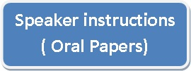 Speaker instructions Oral papers